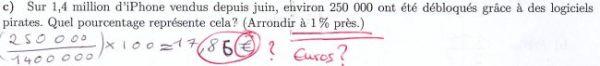 calculer un pourcentage (faux)