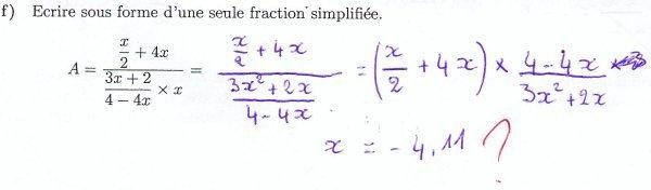 Calculer avec une fraction double  (faux)