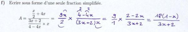 Calculer avec une fraction double correctement