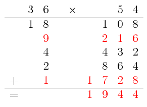 How to use the peasant multiplication method