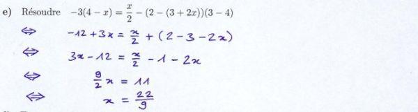 Résoudre correctement une équation de premier degré